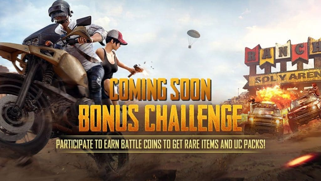 INDIA BONUS CHALLENGE PUBG Free Royal Pass UC