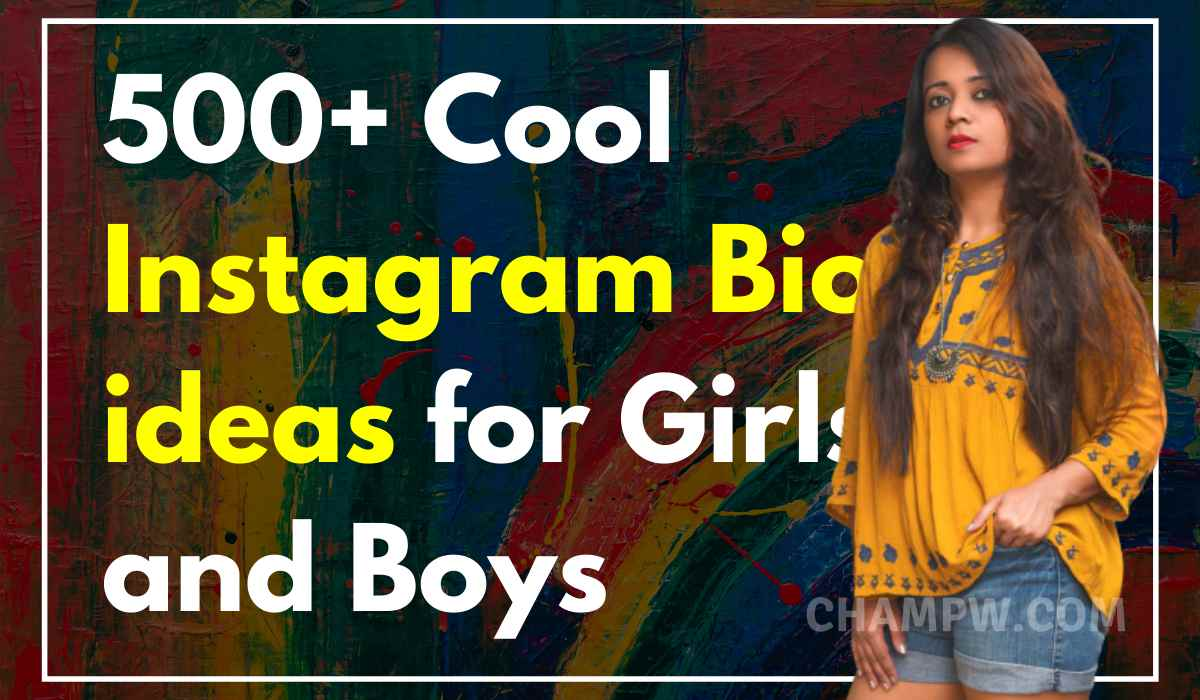 500 Cool Instagram Bio Ideas For Girls And Boys 2020 2020
