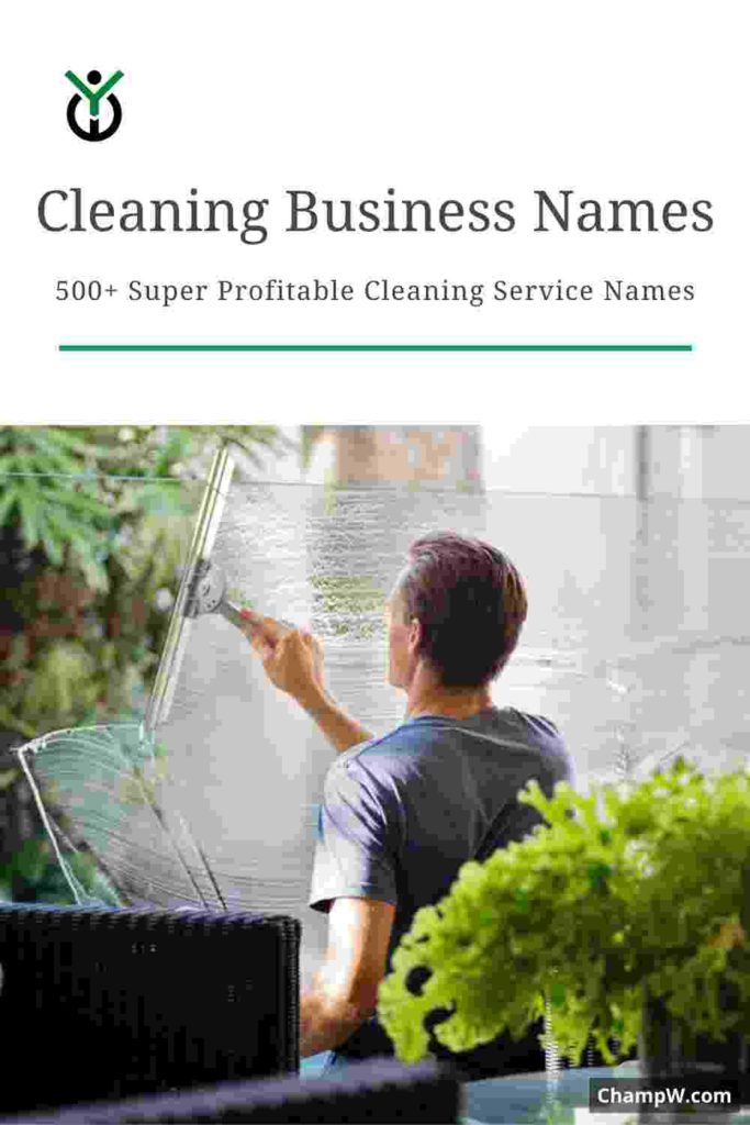 500+ Super Profitable Cleaning Service Names