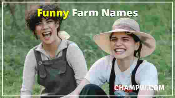 Funny Farm Names