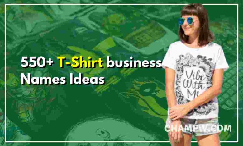 T-Shirt business Names